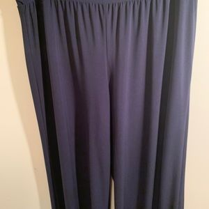 Cato Wide Leg Pants Navy Blue